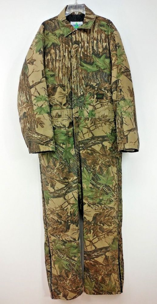 Liberty Rugged Outdoor Gear Hunting Coveralls Mens Size XL Tall Camo Real Tree  #Liberty