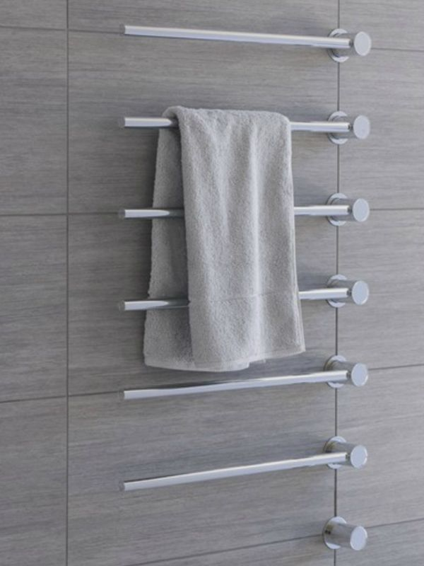 T39W, chauffe-serviettes eau chaude, Vola. Modèle présenté 180W, finition acier inox.