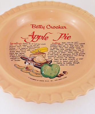 Vintage Betty Crocker Apple Pie Ceramic Dish With Lid \u0026 Recipe & 33 best Vintage Pie Plates images on Pinterest | Pie plate Dish and ...
