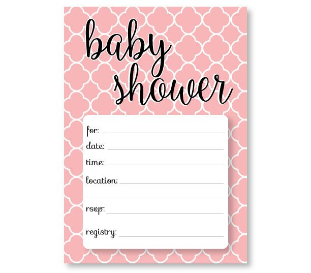 FREE printable baby shower invitation templates! Pink Invitations For A Girl Baby Shower