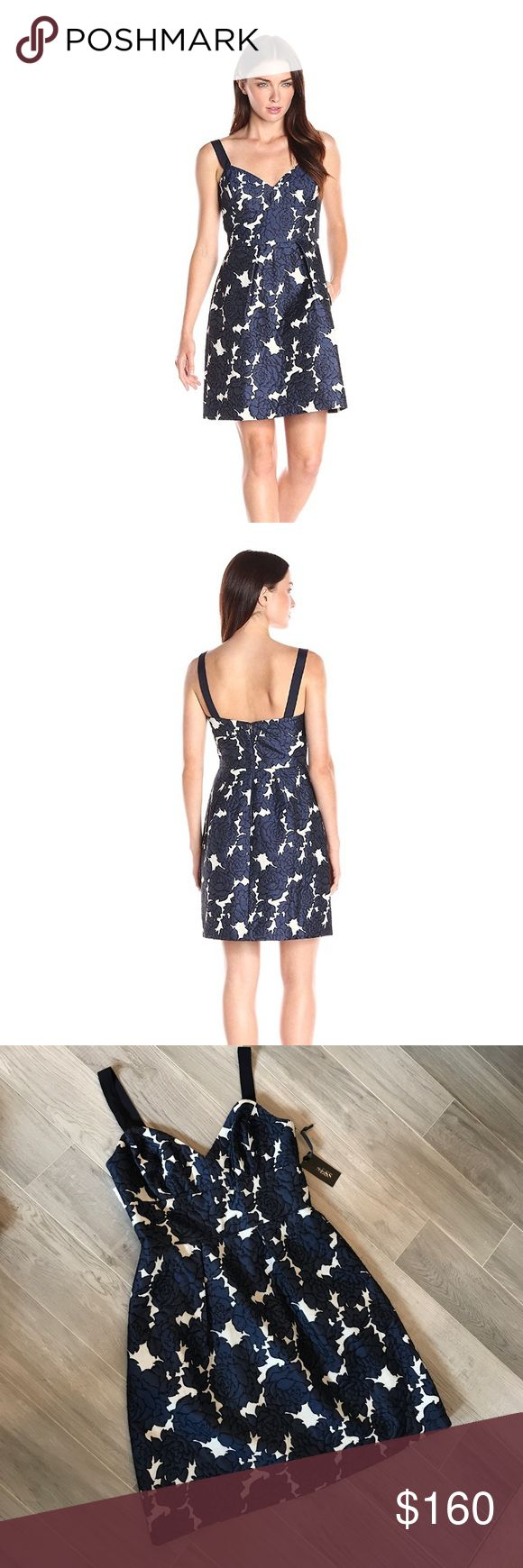 ✨NWT Vera Wang Designer Dress NWT. Adorable floral jacquard strappy dress. Grosgrain ribbon straps. Dress lined with acetate lining. Pockets!  Perfect condition, it just does not fit me :(  Stock photos courtesy of Amazon and Nordstrom, where you can find this dress sold for >$250. Vera Wang Dresses