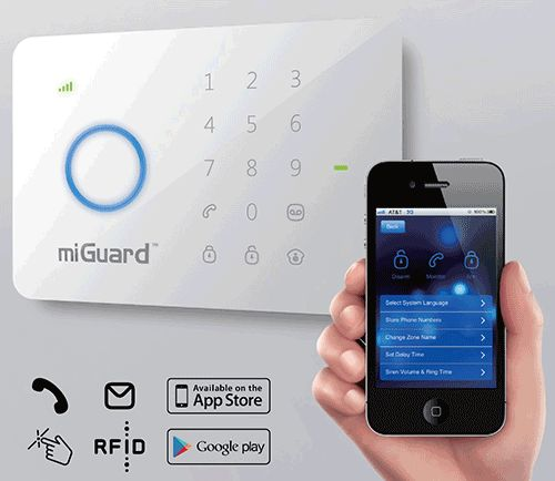 New Wireless DIY Smart Home Alarm Features SMS Text, Apps and RFID