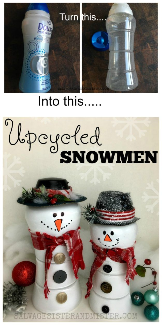 Unstoppables Bottle Upcycled Snowmen