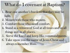 Sofia's Primary Ideas: LDS Baptismal Covenant List