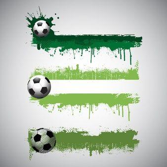 Coleção de bandeiras de futebol estilo grunge