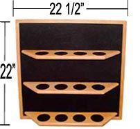 Oak Pint Beer Glass Display Shelf Details - Display Shack - Collectable Cases Racks & Shelving