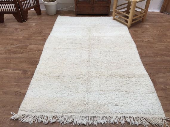 Soft Beni Ourain 4x6 Luxurious Solid Rug by Beniouraincarpets