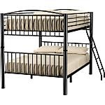 """Perfect for bedtime stories and slumber parties, our Full over Full Metal Bunk Bed will make bedtime that much more fun.  Constructed of all metal with a durable finish.  Attached ladder ensures safe climbing to the top bunk.  View our wide assortment of bunk beds online, or visit a store close to home!    SKU: 1232576 - Black Full over Full Bunkbed   Fl/Fl Bunkbed - 58""""W x 81""""D x 65""""H"""