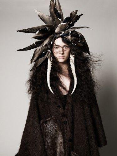 """The Moon Maiden""      ~      Januz Kree*       'CREE Tribal Warrier'"