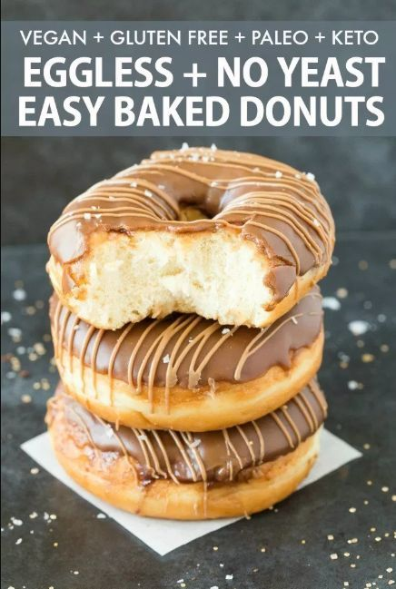 eggless and no yeast easy baked donuts