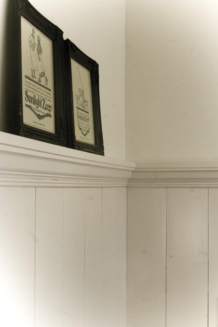 25 beste idee n over badkamer lambrisering op pinterest lambrisering badkamer kraal boord - Houten lambrisering plafond badkamer ...