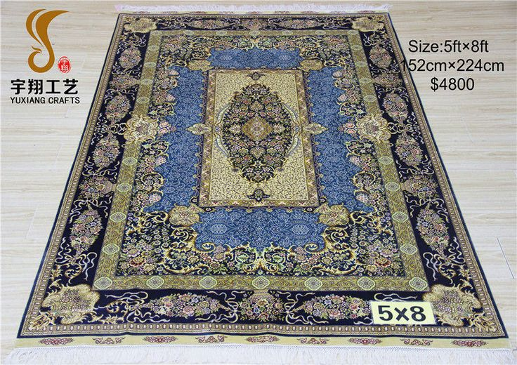 5*8ft-Yuxiang carpet silk carpet persian carpet perisan rug carpets rugs persian carpet factory manufacturer supplier persian silk carpet-YuxiangCarpets