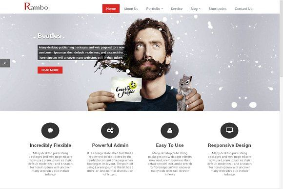 Rambo WordPress Theme for Corporates by Webriti on @creativemarket