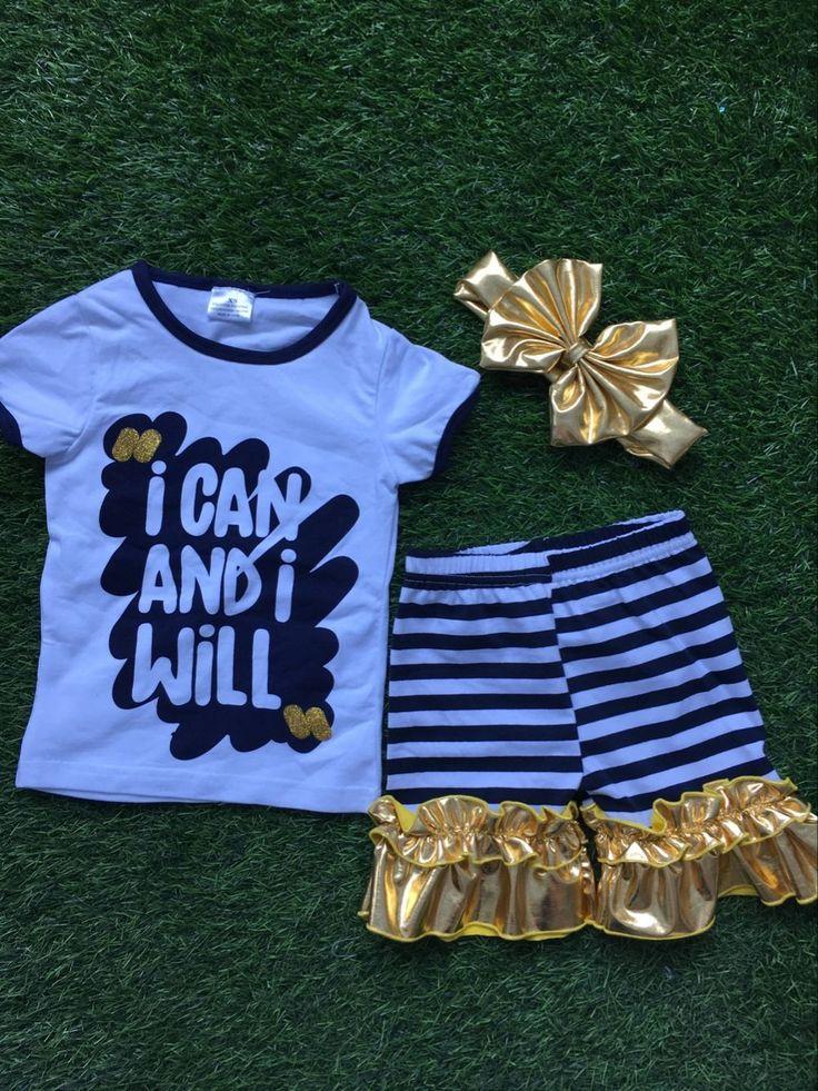 Новорожденных девочек летом наряды девушки рюшами шорты могу, и я буду наряды дети бутик одежды с mathcing оголовье #men, #hats, #watches, #belts, #fashion