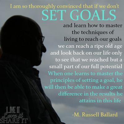 the goals in our lives The 16 reasons why it is so important to follow your dreams 1 others are successful in one aspect of our lives approach is one in which our goals.