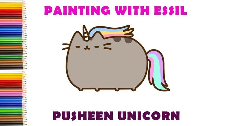 How to draw pusheen unicorn- Easy step-by-step drawing tutorial