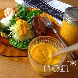 野菜を野菜で食べよう!ミキサーで簡単!すりおろし人参ドレッシング+by+nori*さん+|+レシピブログ+-+料理ブログのレシピ満載! どこかで食べた人参ドレッシングが忘れられなくて…自分好みに作ってみました!新鮮なお野菜を、新鮮な手作り人参ドレッシングでいただきます♪  食物繊維たっぷり、食べるドレッシングです♪