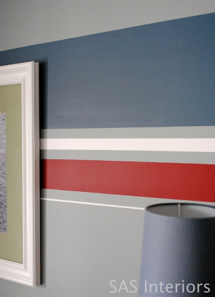 Boys Room with tutorial on how to paint stripes on the wall  I really like  this wall color with the navy and red. 17 Best ideas about Boy Room Paint on Pinterest   Boys room paint