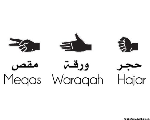 #arabic rock paper scissors