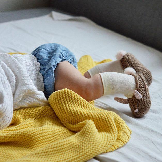 Kapcie króliczki dla niemowląt - beż - Lady-Stump - Szaliki
