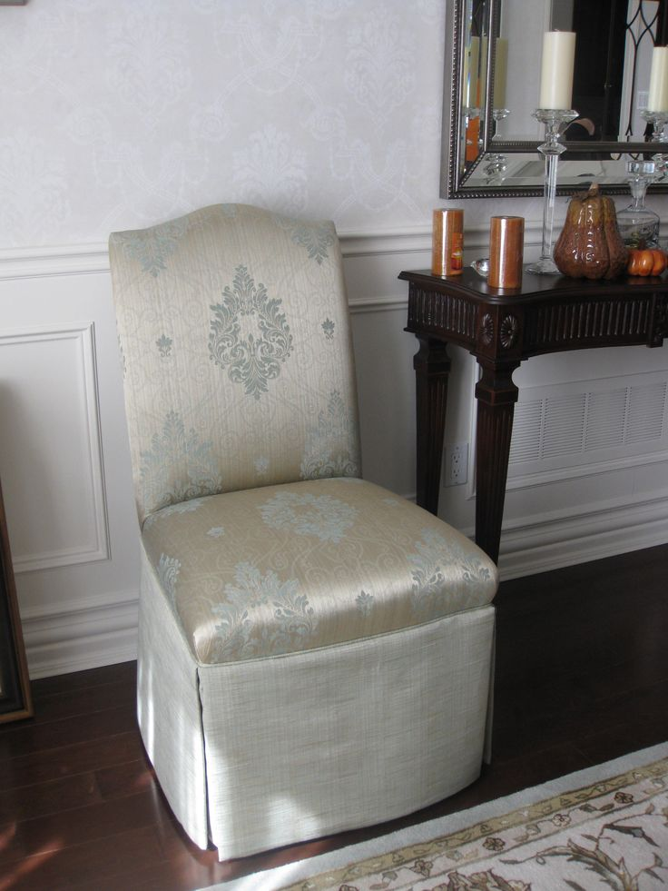 Custom made traditional dining chair.