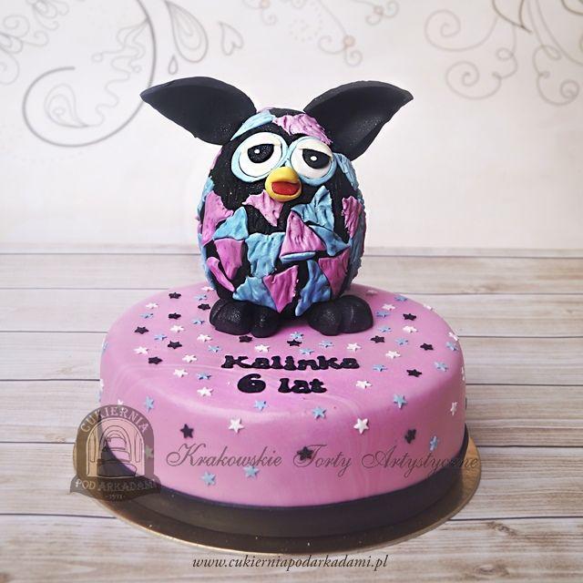 78BD. Tort Furby. Furby cake.