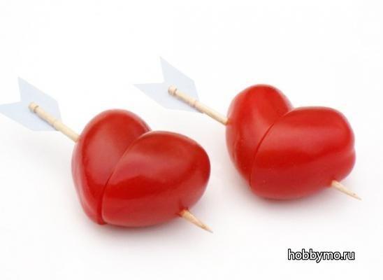 Сердце из помидора Сайт Море Хобби