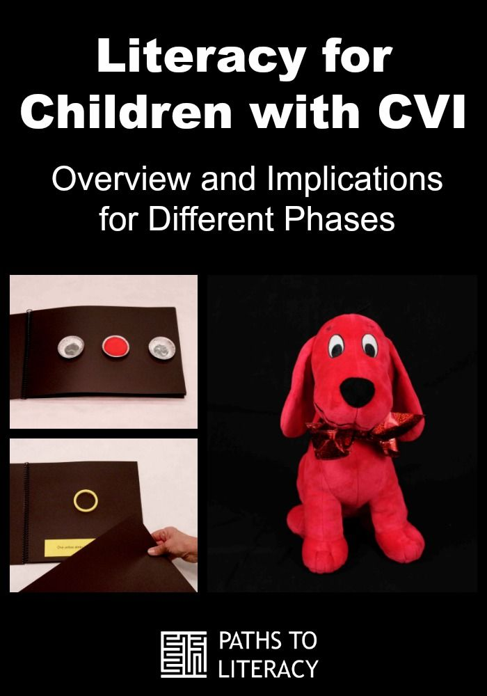 Get started learning about literacy for children with CVI (Cortical Visual Impairment) with this overview and implications for different phases