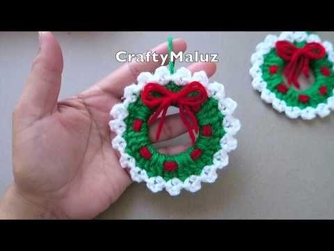 Corona De Navidad De Ganchillo – Aprende A Ganchillo