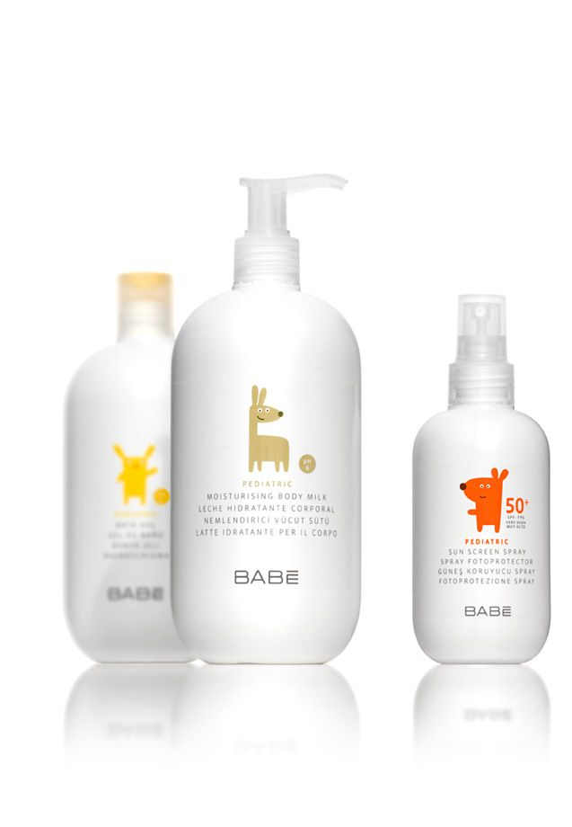 """Babé Laboratorios"" packaging for pediatric range"