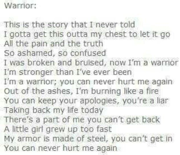 demi lovato warrior lyrics - photo #5