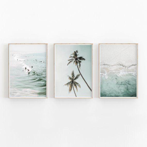 Set Of 3 Prints Beach Prints Nature Print Printable Art