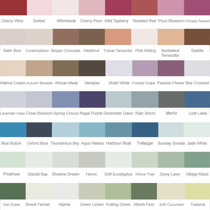 Homebase Masonry Paint Colour Chart