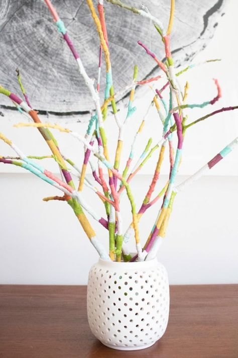 Basteln Mit Asten Und Zweigen Tischdeko Selber Machen Fruhling