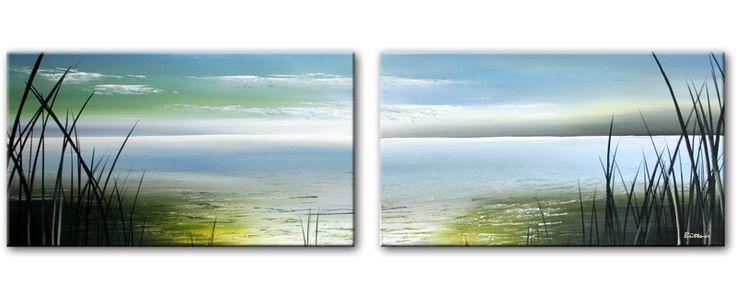 Abstracte schilderijen - Schilderij kooi d trap ...