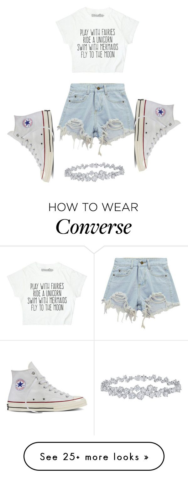 """Untitled #1"" by madisonelizabethcamarillo on Polyvore featuring Chicnova Fashion, Converse and Harry Winston"