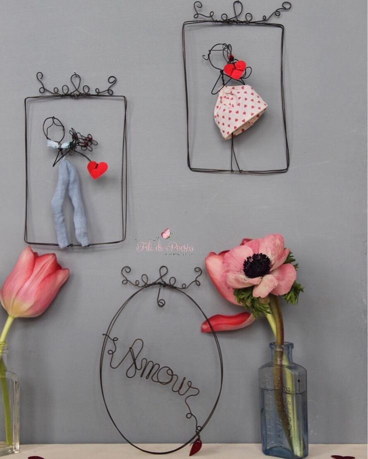 L'Amour!! Wire and textiles creations