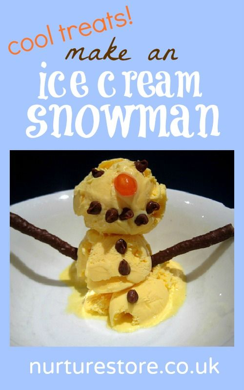 This is what my kids always request for dessert at Christmas - an ice cream snowman!