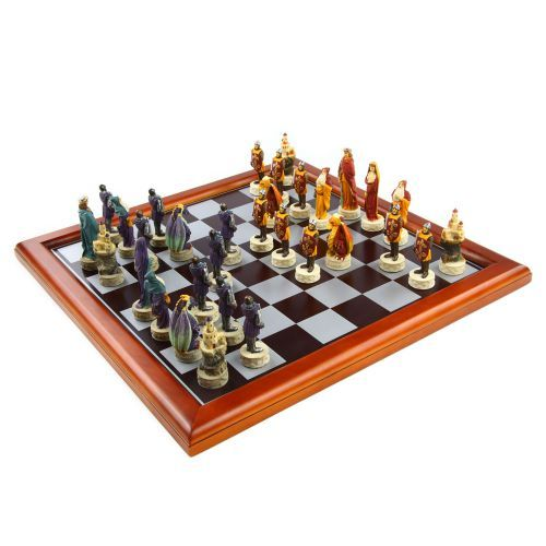 Buy the Knights of the Round Table Chess Set from our range of Tintagel Castle gifts. Buy online from English Heritage. Next Day delivery available.