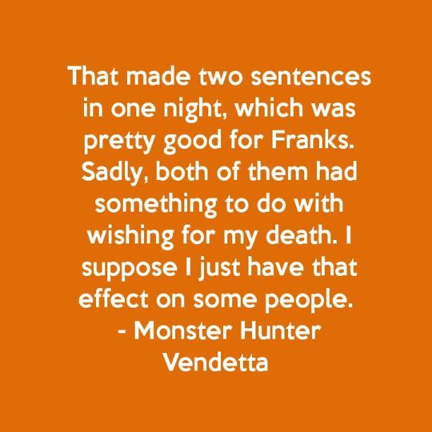 Monster Hunter Vendetta, Larry Correia, monster Hunter International book 2
