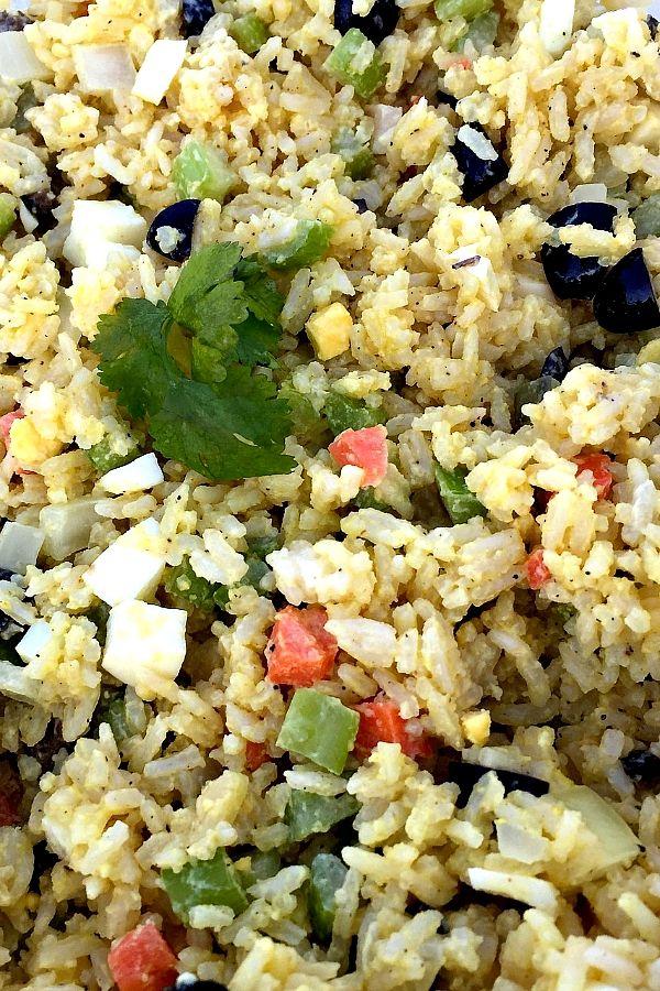 Golden Rice Salad   ReluctantEntertainer.com