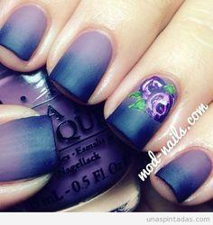 Diseños de uñas con degradado de colores