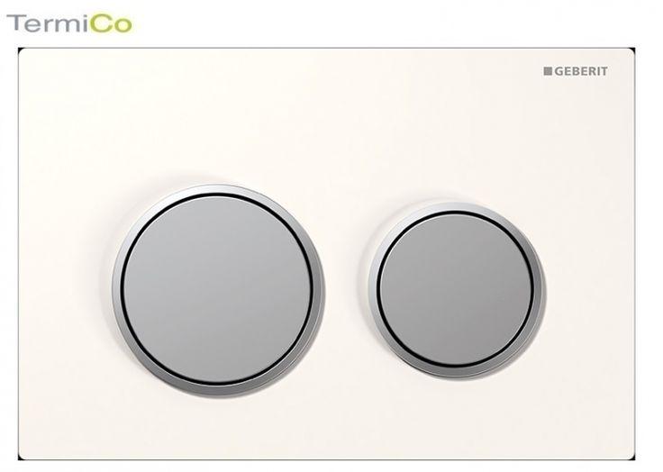 Geberit Omega 20 przycisk do wc biały/chrom mat/chrom mat 115.085.KL.1