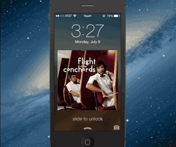 Lock Screen Clock iPhone iOS 7 Beta 3 l #iphone #changes #gif