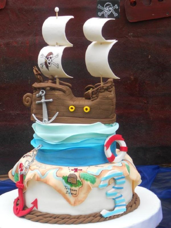 99 best Ship and Fishing boat Cakes 2 images on Pinterest Conch