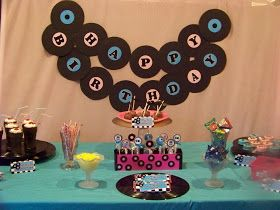Kandy Kreations: 50s Sock Hop Party Dessert Table