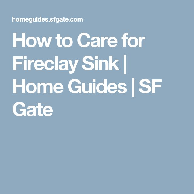 How to Care for Fireclay Sink | Home Guides | SF Gate