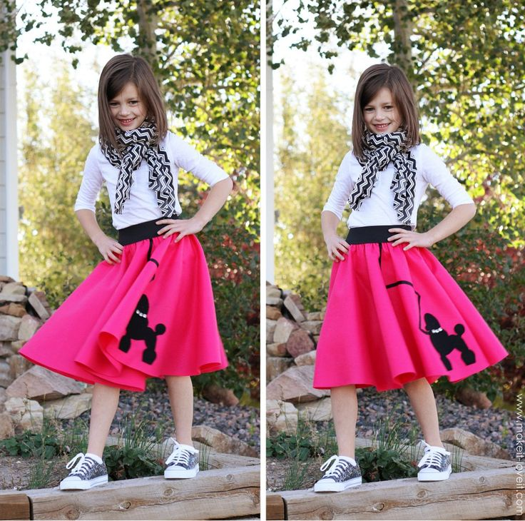 Halloween Costume Ideas: Very Low-Sew POODLE SKIRT | Make It and Love It