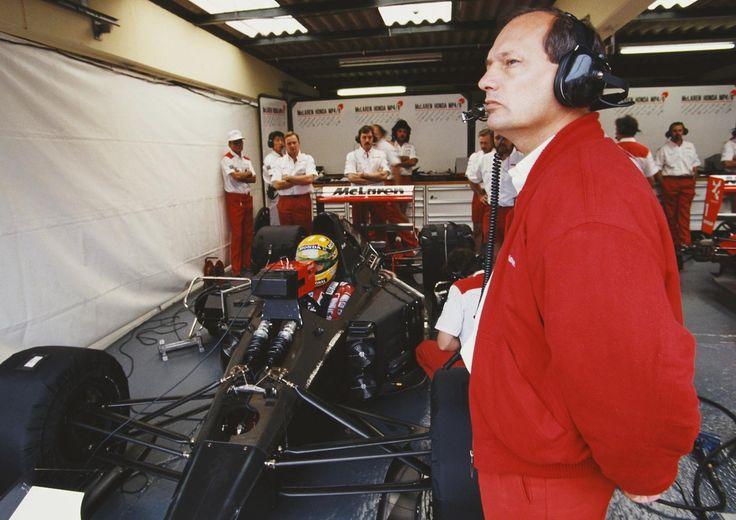1991 Ayrton Senna and Ron Dennis Marlboro Mclaren Team