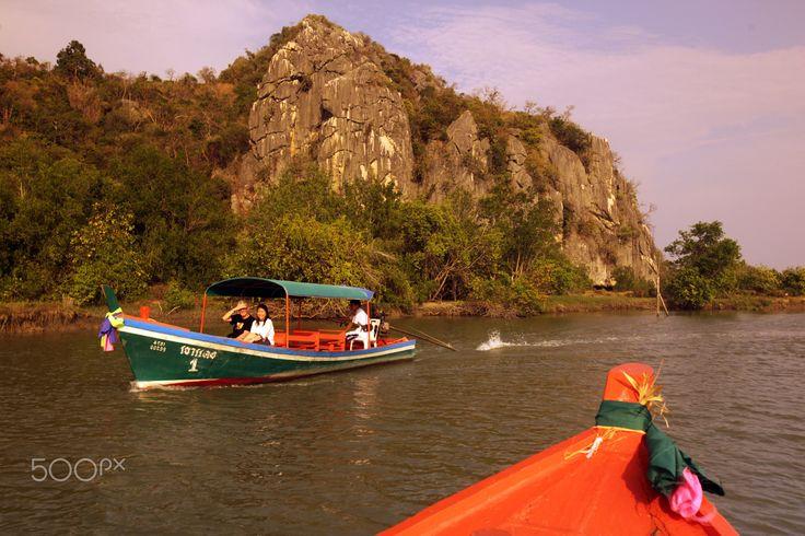 ASIA THAILAND HUA HIN KHAO SAM ROI YOT - the river landscape in the Khao Sam Roi Yot Nationalpark on the Golf of Thailand near the Town of Hua Hin in Thailand.
